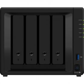 Serveur NAS Synology DS420+ ,4 Baies Tour, 2GB DDR4 (DS420+)