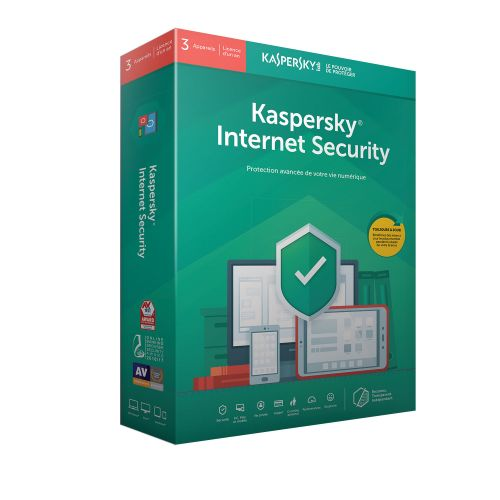 Kaspersky internet security2019 (3 Poste / 1 An)