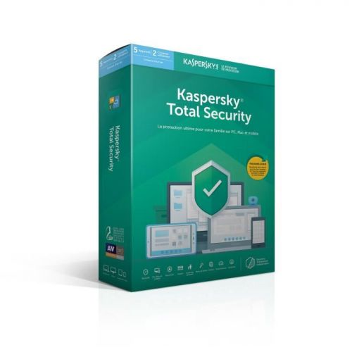 Antivirus Kaspersky Total Security 2019, 5 Postes pour 1 An (KL1949FBEFS-9MAG) maroc
