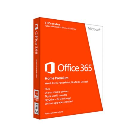 Office 365 Home Premium 32/64 French Subscr 1YR Africa Only EM Medialess