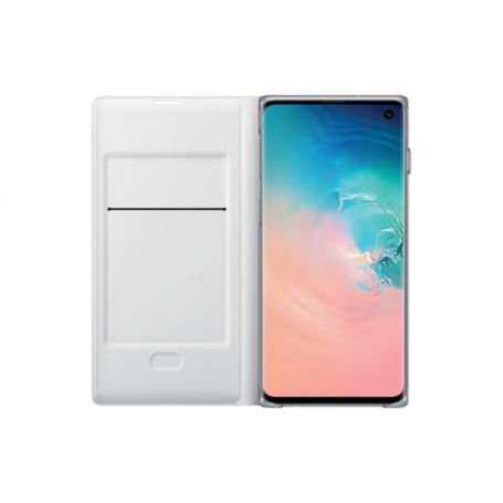 Samsung S10 LED View Protection-Cover Blanc (EF-NG973PWEGWW)